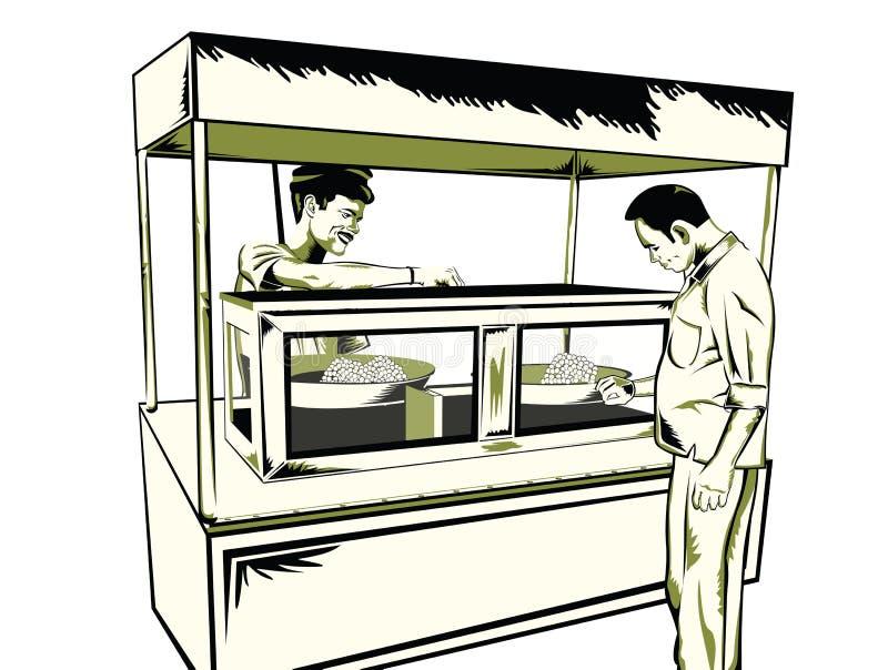 Indische snel voedselsnack royalty-vrije illustratie