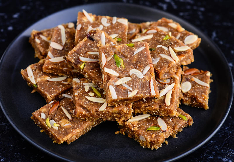 Indische Snoepjes - Khorak Mithai royalty-vrije stock foto's