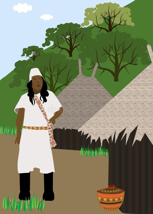 Indische stam Kogi van Colombia royalty-vrije illustratie