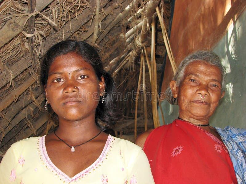 Indische stammenvrouwen stock afbeelding