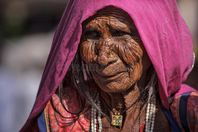 Indische Stammes- Frauen von Pushkar lizenzfreies stockbild