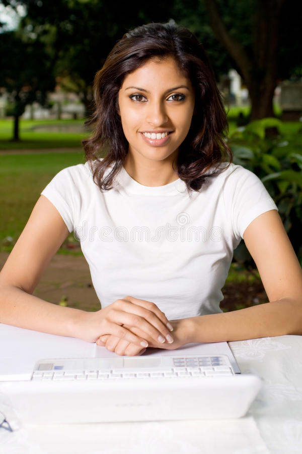 Indische student royalty-vrije stock foto's