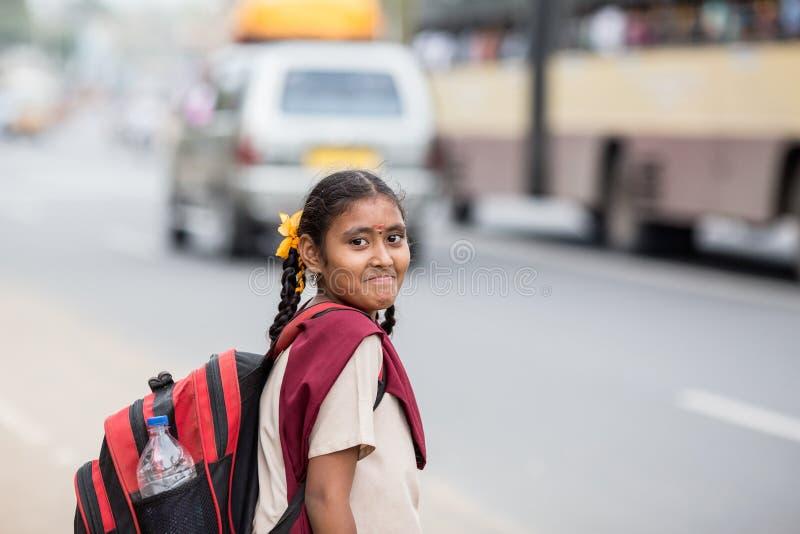 Indische studenten stock foto