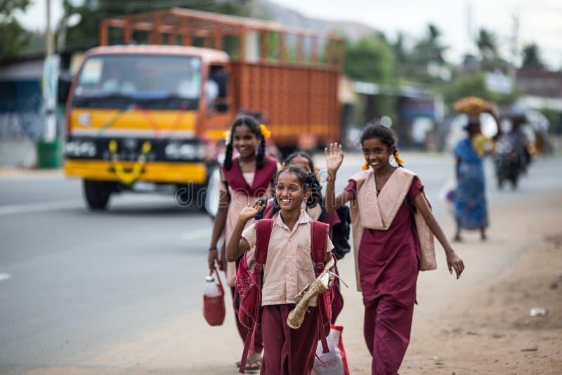 Indische studenten royalty-vrije stock foto
