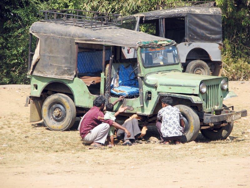 Indische taxi aan de markt royalty-vrije stock foto's