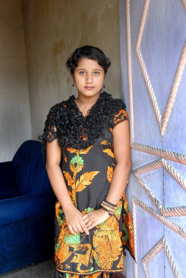 Indische Tiener stock foto's