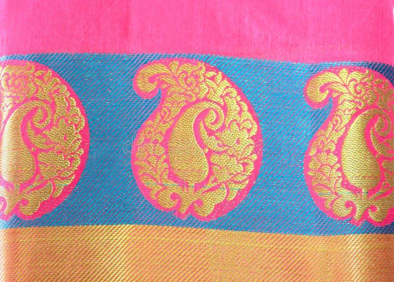 Indische Traditionele Zijde Sari royalty-vrije stock afbeelding