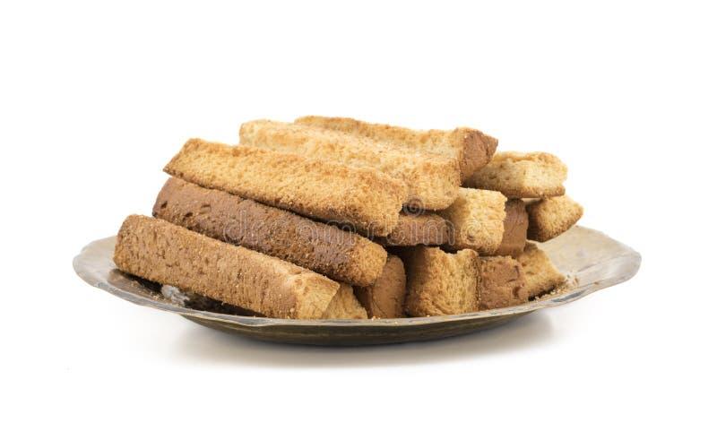 Indische van de de Theetijd van het Bakkerijvoedsel Zoete Droge de Toostsnack stock fotografie