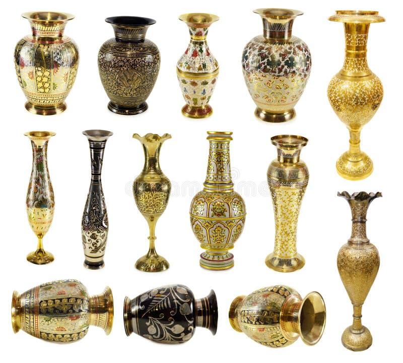 Indische Vasen stockfotos