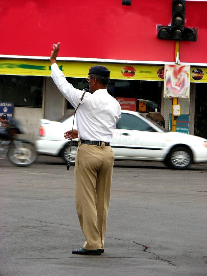 Indische Verkehrspolizei lizenzfreie stockfotografie