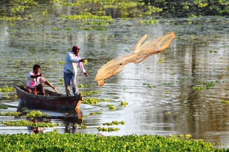 Indische vissers royalty-vrije stock foto