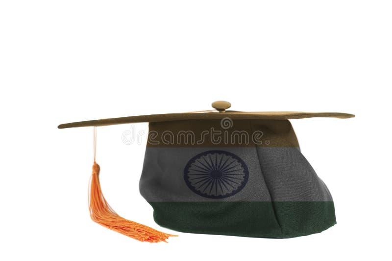 Indische vlag op Graduatie GLB stock foto's