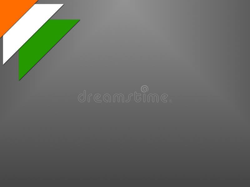 Indische vlag op Onafhankelijkheidsdag van India royalty-vrije stock afbeeldingen