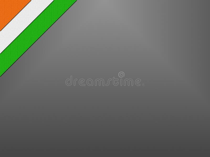 Indische vlag op Onafhankelijkheidsdag van India stock foto's