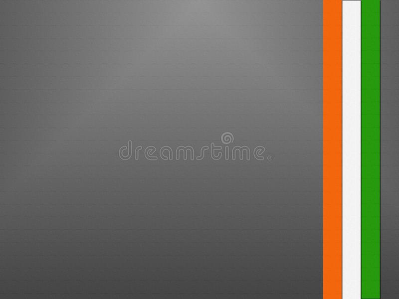 Indische vlag op Onafhankelijkheidsdag van India stock foto