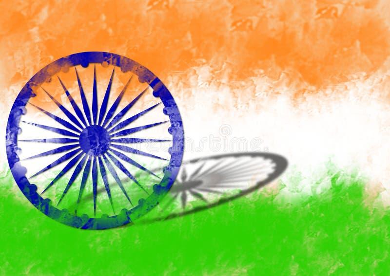 Indische vlag op Onafhankelijkheidsdag van India royalty-vrije stock afbeelding