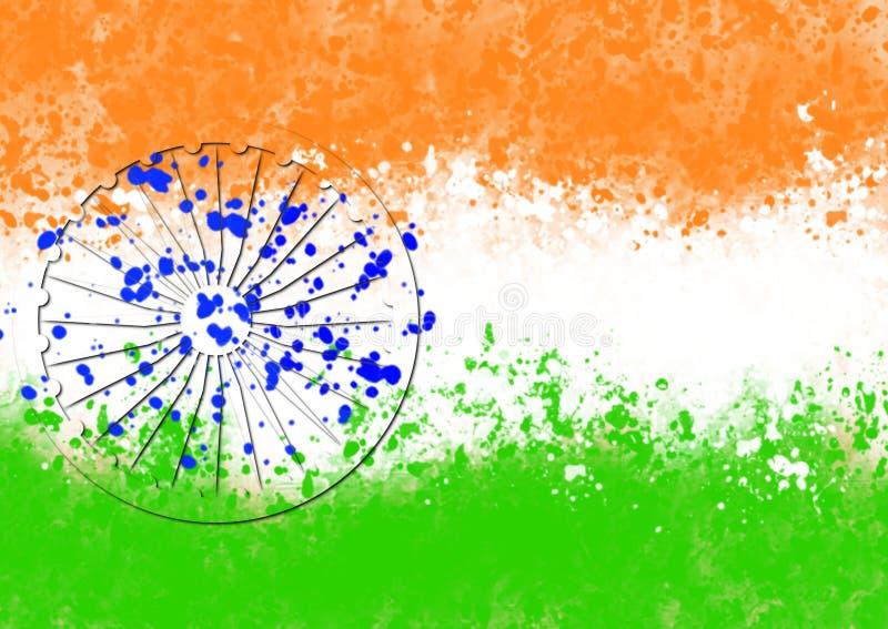 Indische vlag op Onafhankelijkheidsdag van India royalty-vrije stock foto