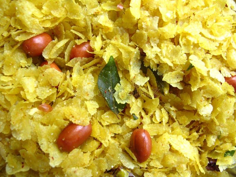 Indische voedsel-Chiwda stock afbeelding