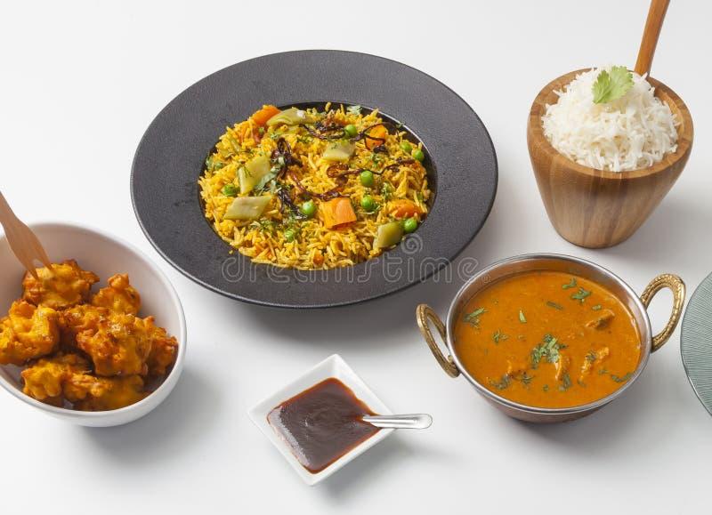 Indische Voedselselectie royalty-vrije stock foto