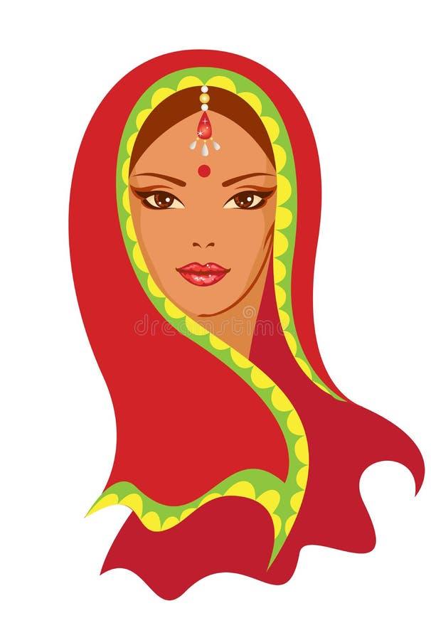 Indische vrouw stock illustratie
