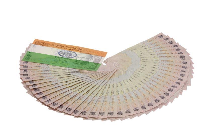 Indische Währung mit Flagge lizenzfreie stockfotos