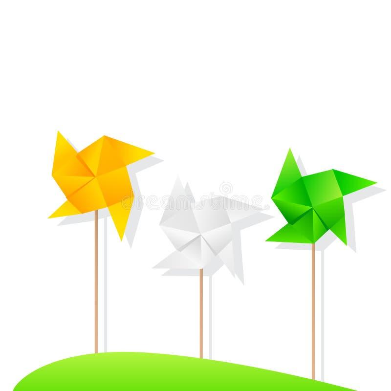 Indische Windmolen Tricolor royalty-vrije illustratie