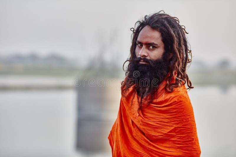 Indische yogi royalty-vrije stock fotografie