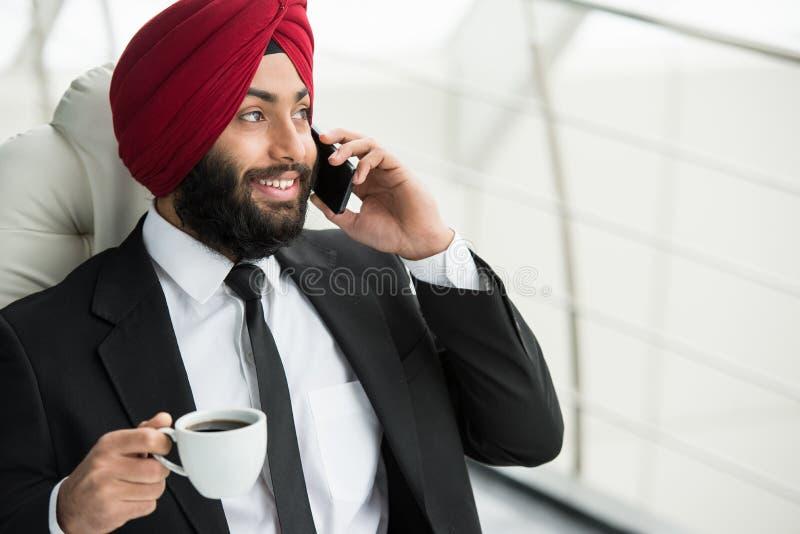 Indische zakenman stock foto's