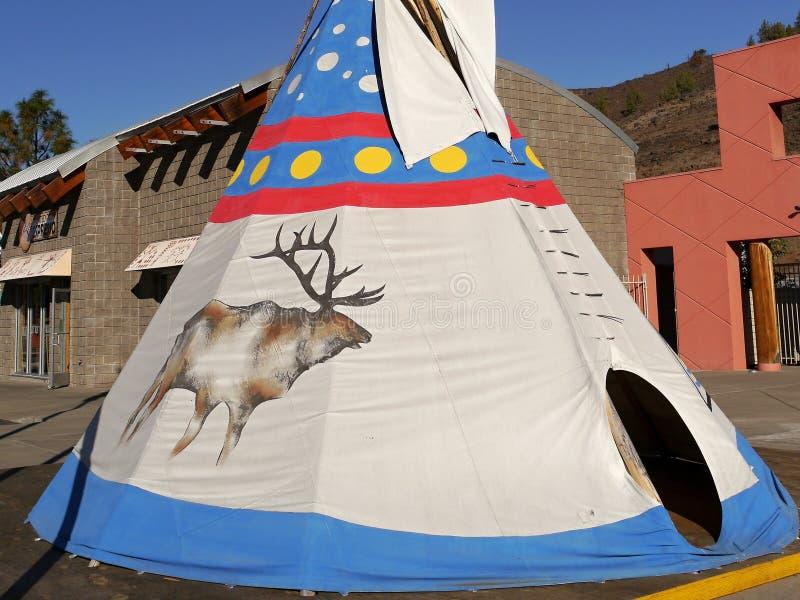 Indische Zelte verziert mit Verzierungen stockfotos
