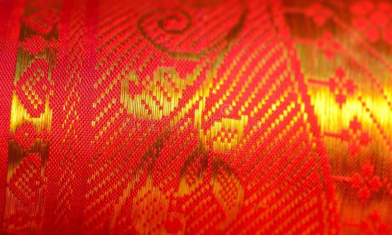 Indische Zijde Sari stock foto