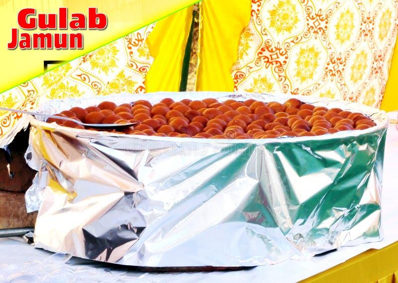 Indische zoete Gulab Jamun, stock afbeelding