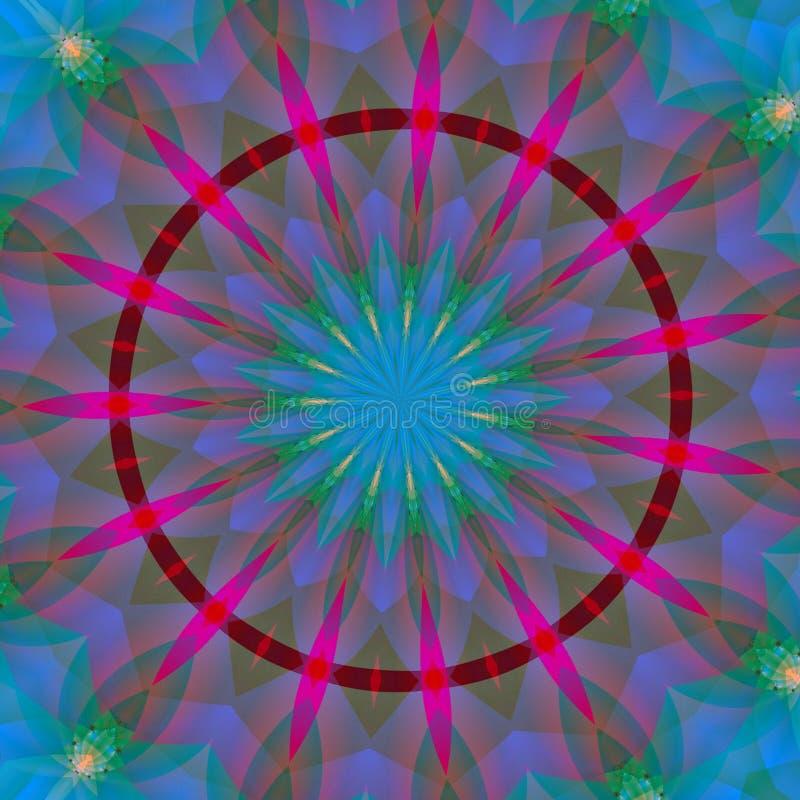 Indische zon 3 vector illustratie