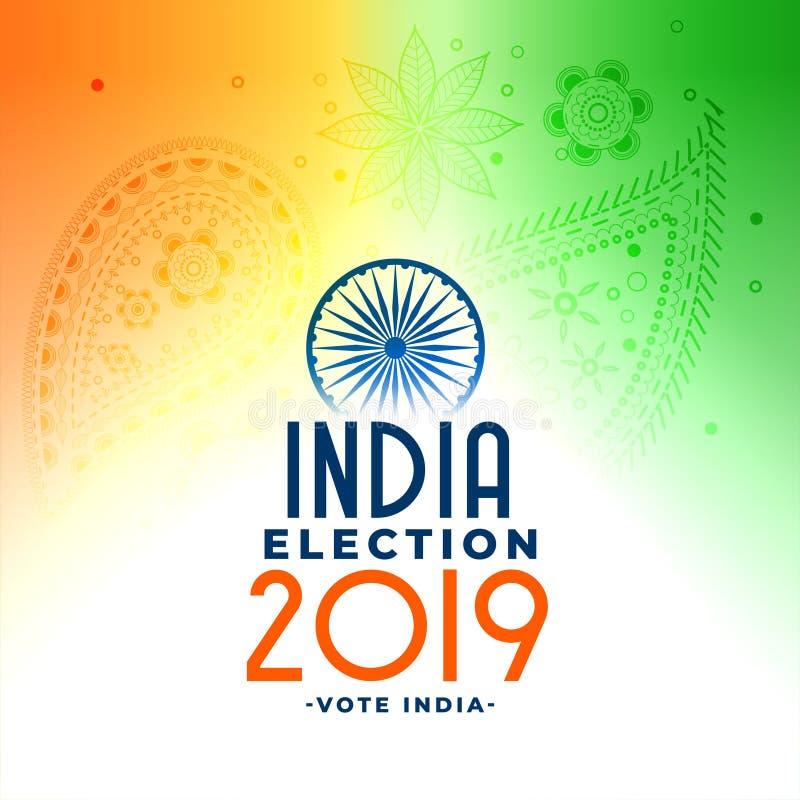 indischer allgemeiner loksabha 2019 Wahl-Konzeptentwurf lizenzfreie abbildung