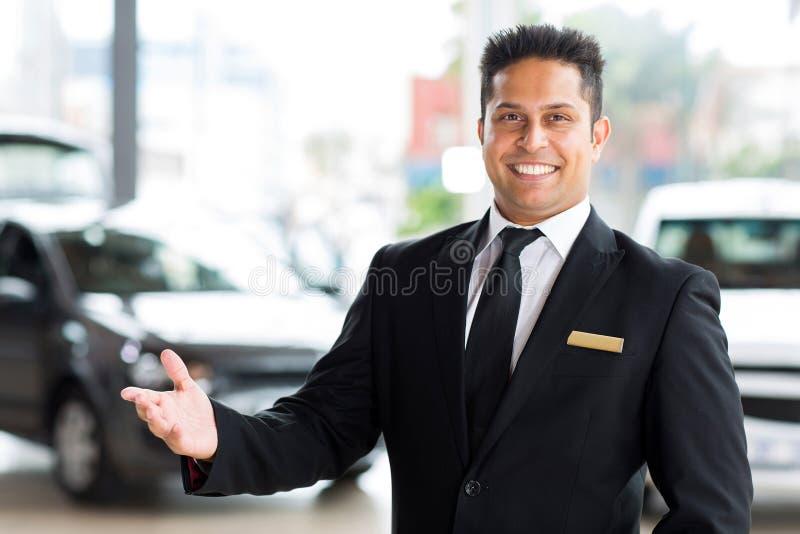 Indischer Autohändler stockbilder