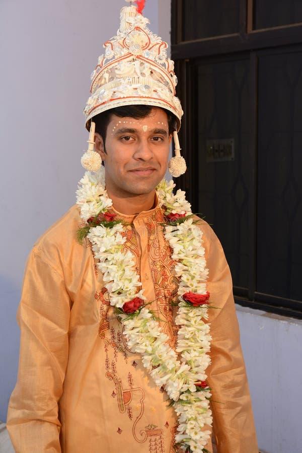 Indischer Bräutigam lizenzfreie stockfotografie