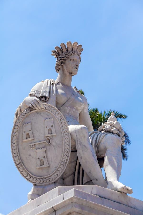 Indischer Brunnen - Symbol von Havana, Kuba lizenzfreie stockfotografie