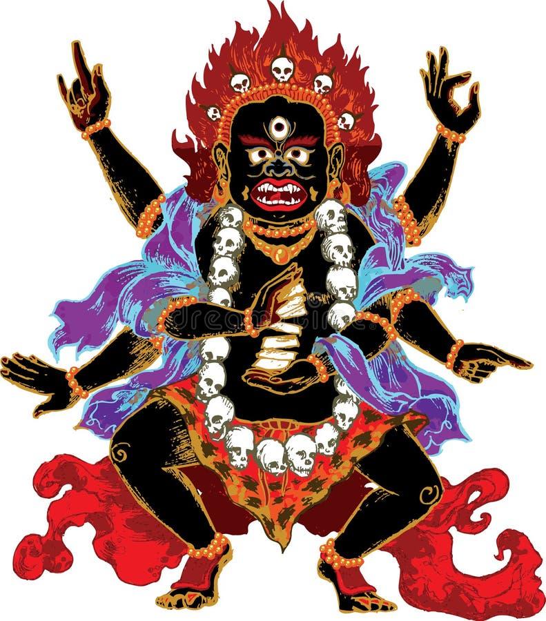 Indischer Dämon stock abbildung