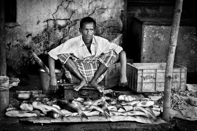 Indischer Fischmarkt lizenzfreie stockfotografie