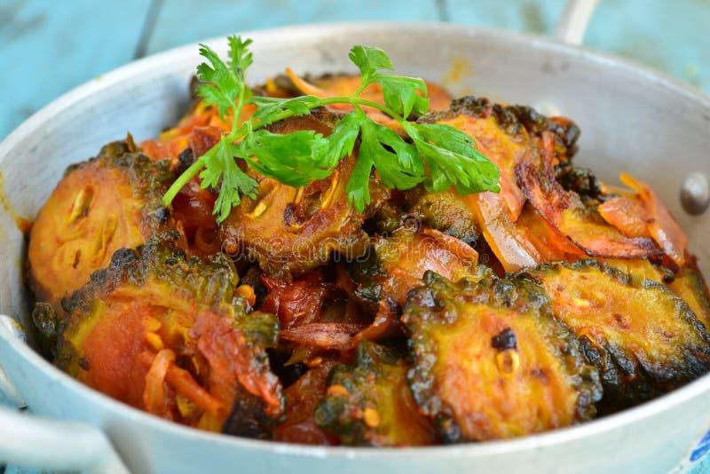 Indischer Gemüse-bitterer Kürbiscurry lizenzfreies stockbild