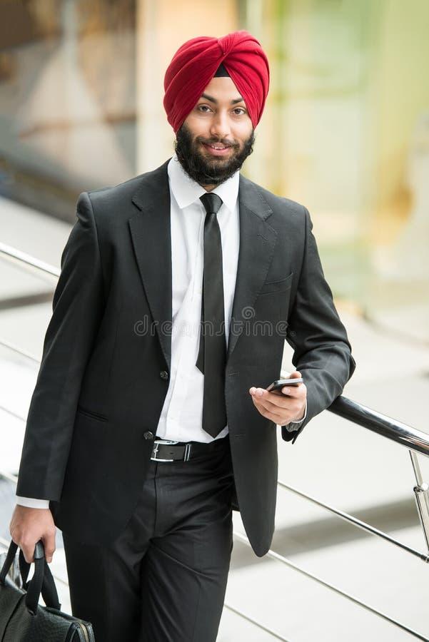 Indischer Geschäftsmann stockfotos