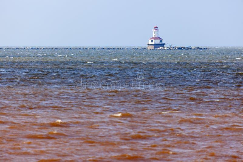 Indischer Hauptleuchtturm auf Prinzen Edward Island lizenzfreies stockfoto