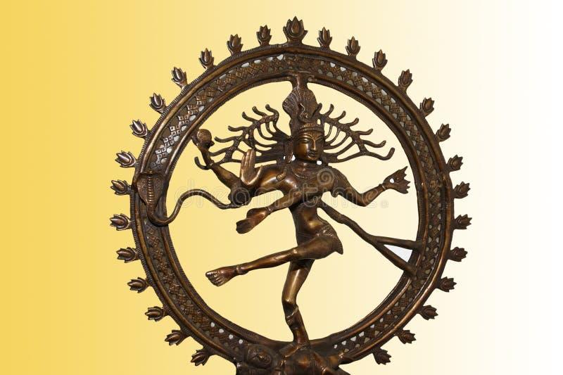 Indischer hindischer Gott Shiva Nataraja - Lord der Tanz-Statue stockbild