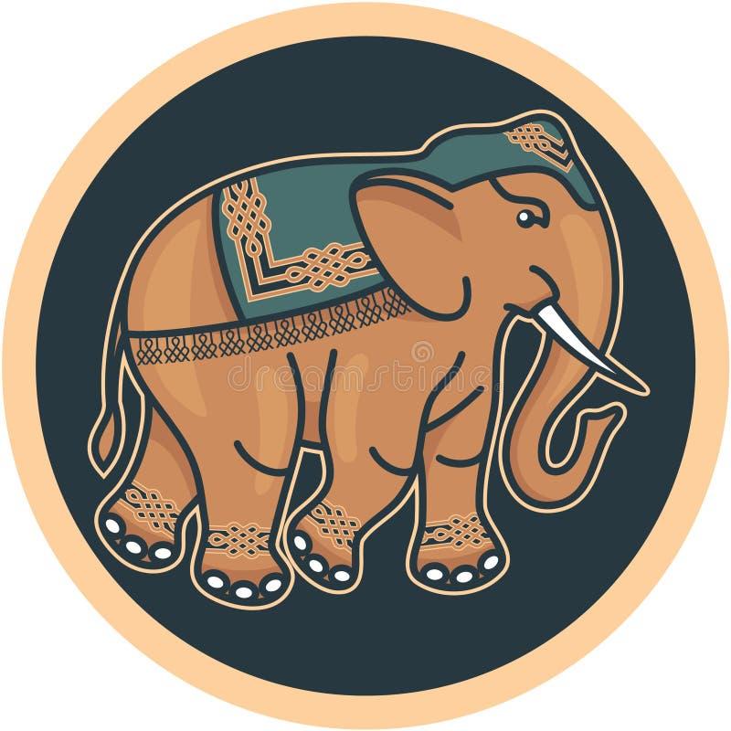 Indischer - hinduistisch - verzierter Elefant vektor abbildung