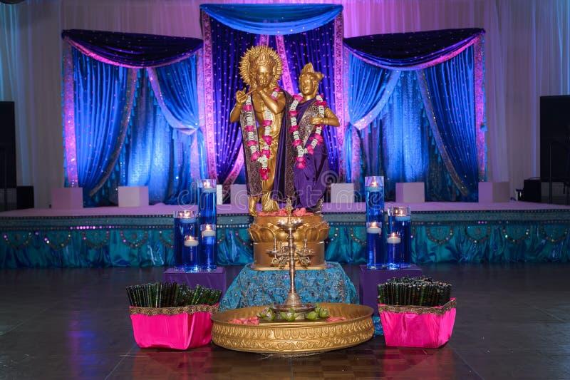 Indischer Hochzeits-Dekor stockfoto