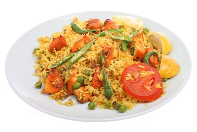 Indischer Huhn Tikka Biriani Curry stockfotografie
