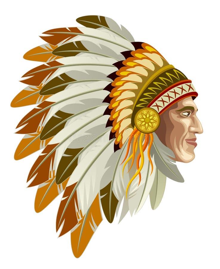Indischer Kopf vektor abbildung