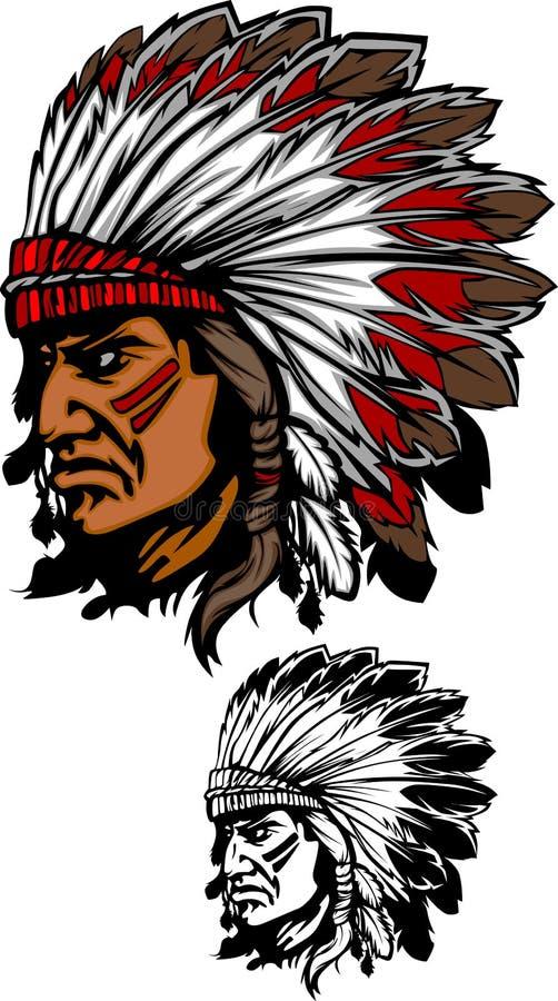 Indischer Leiter-Maskottchen-Zeichen stock abbildung