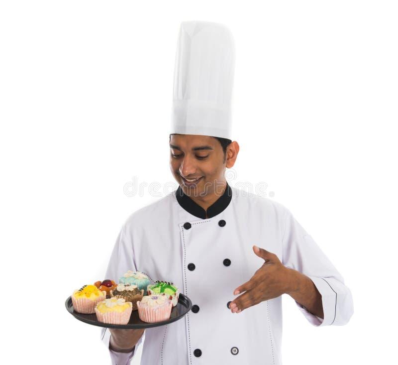 Indischer männlicher Chef stockfotografie