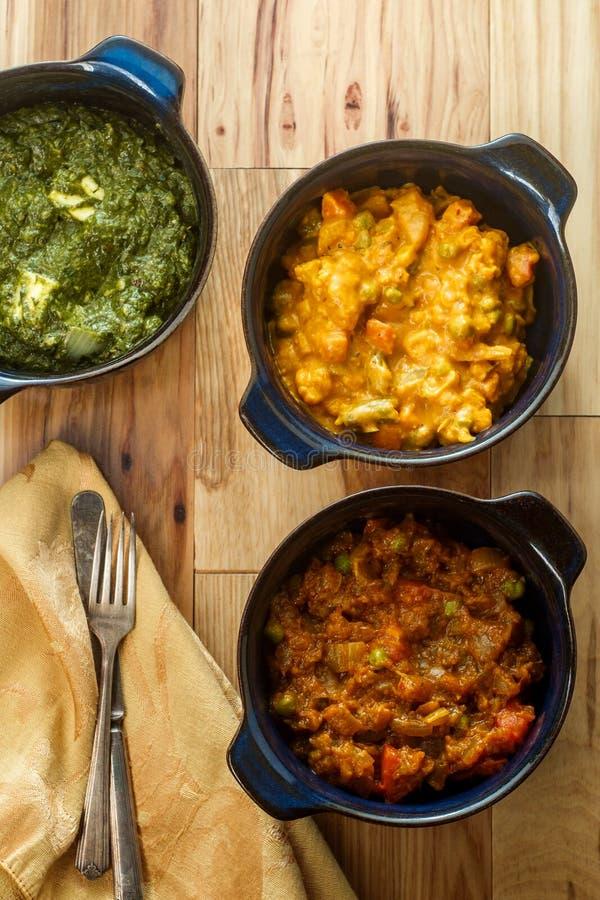Indischer Nahrungsmittelvegetarier Thali stockfotografie