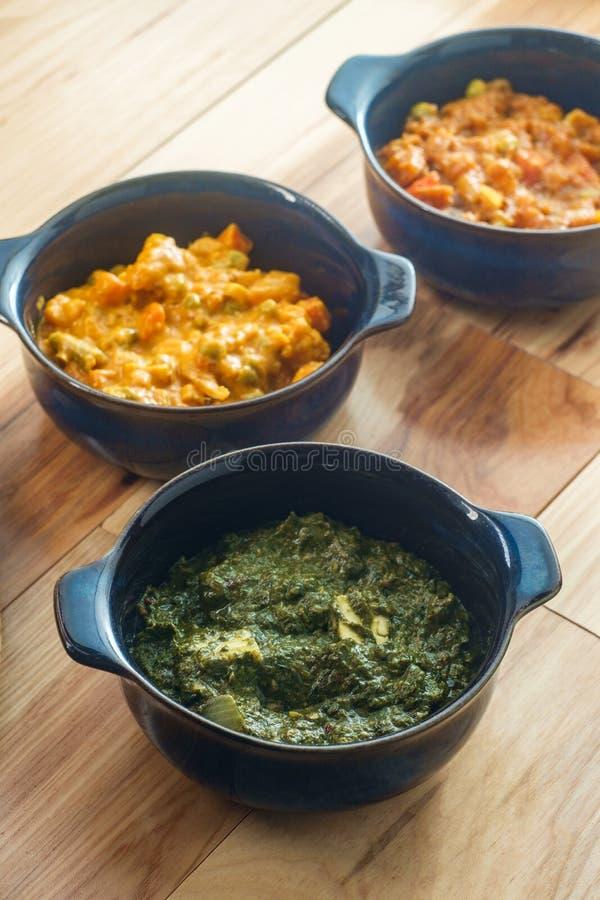 Indischer Nahrungsmittelvegetarier Thali lizenzfreies stockfoto